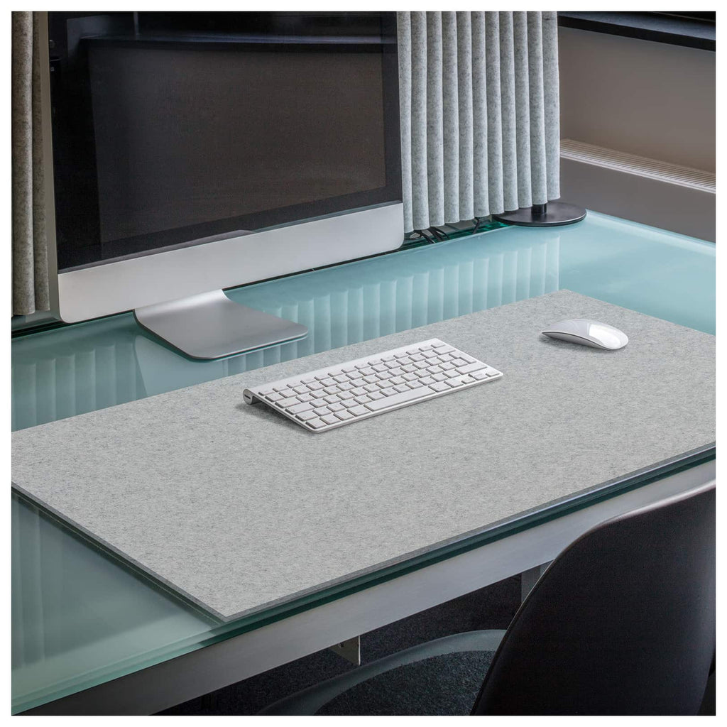 Rectangular Felt Desk Pad in Light Grey by Hey-Sign 300109007 looking at wide Lifestyle Image