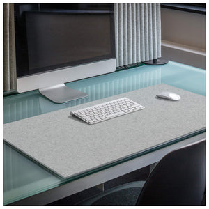 Rectangular Felt Desk Pad in Light Grey by Hey-Sign 300109007 looking at Lifestyle Image