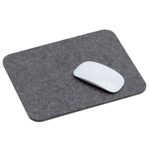 Rectangular Felt Mousepad in Charcoal by Hey-Sign 305302301 looking at Front-Angle-Wide