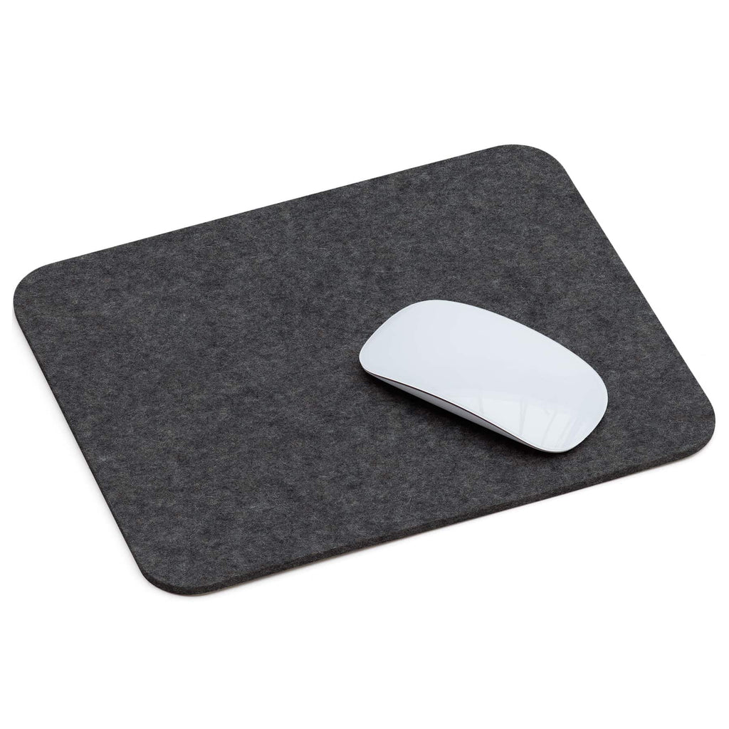 Rectangular Felt Mousepad in Graphite by Hey-Sign 305302308 looking at Front-Angle-Wide