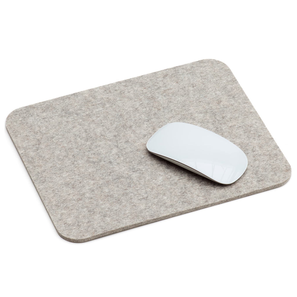 Rectangular Felt Mousepad in Light Grey by Hey-Sign 305302307 looking at Front-Angle-Wide