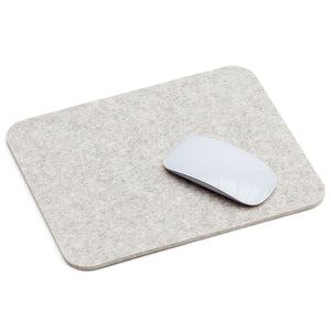 Rectangular Felt Mousepad in Marble by Hey-Sign 305302306 looking at Front-Angle-Wide