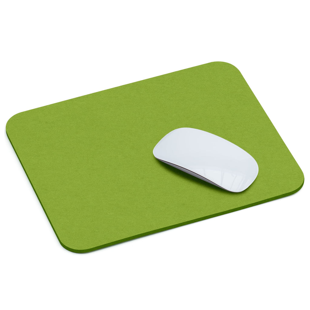 Rectangular Felt Mousepad in May Green by Hey-Sign 305302330 looking at Front-Angle-Wide