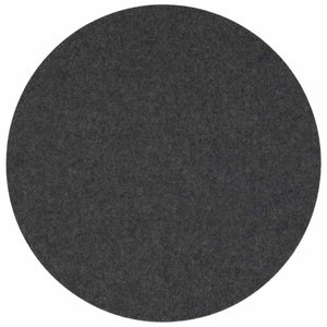 Round Felt Placemat in Anthracite by Felt & Co. 153001 looking at Front-Wide