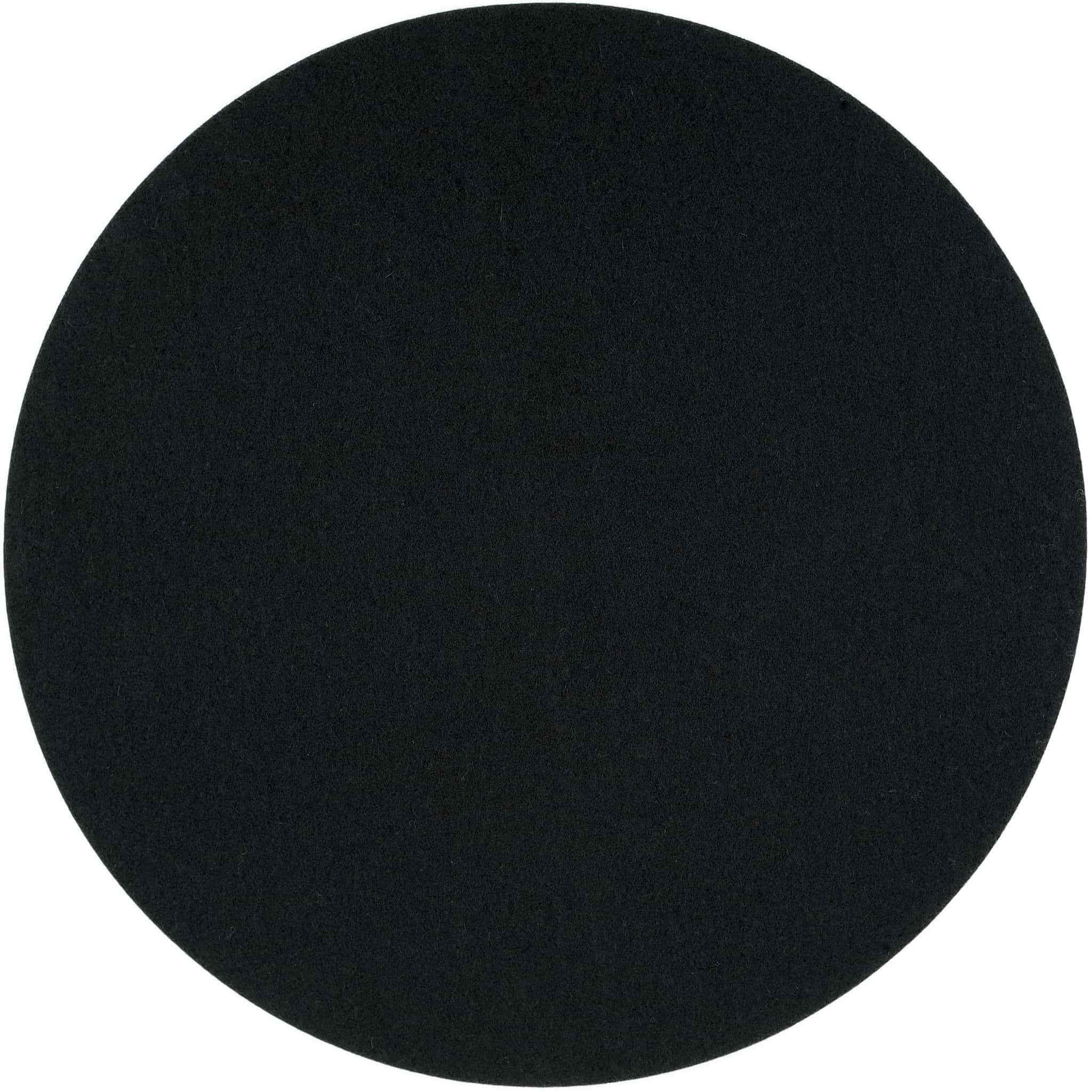 Round Felt Placemat in Black by Felt & Co. 153502 looking at Back