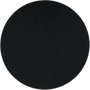 Round Felt Placemat in Black by Felt & Co. 153002 looking at Front-Wide