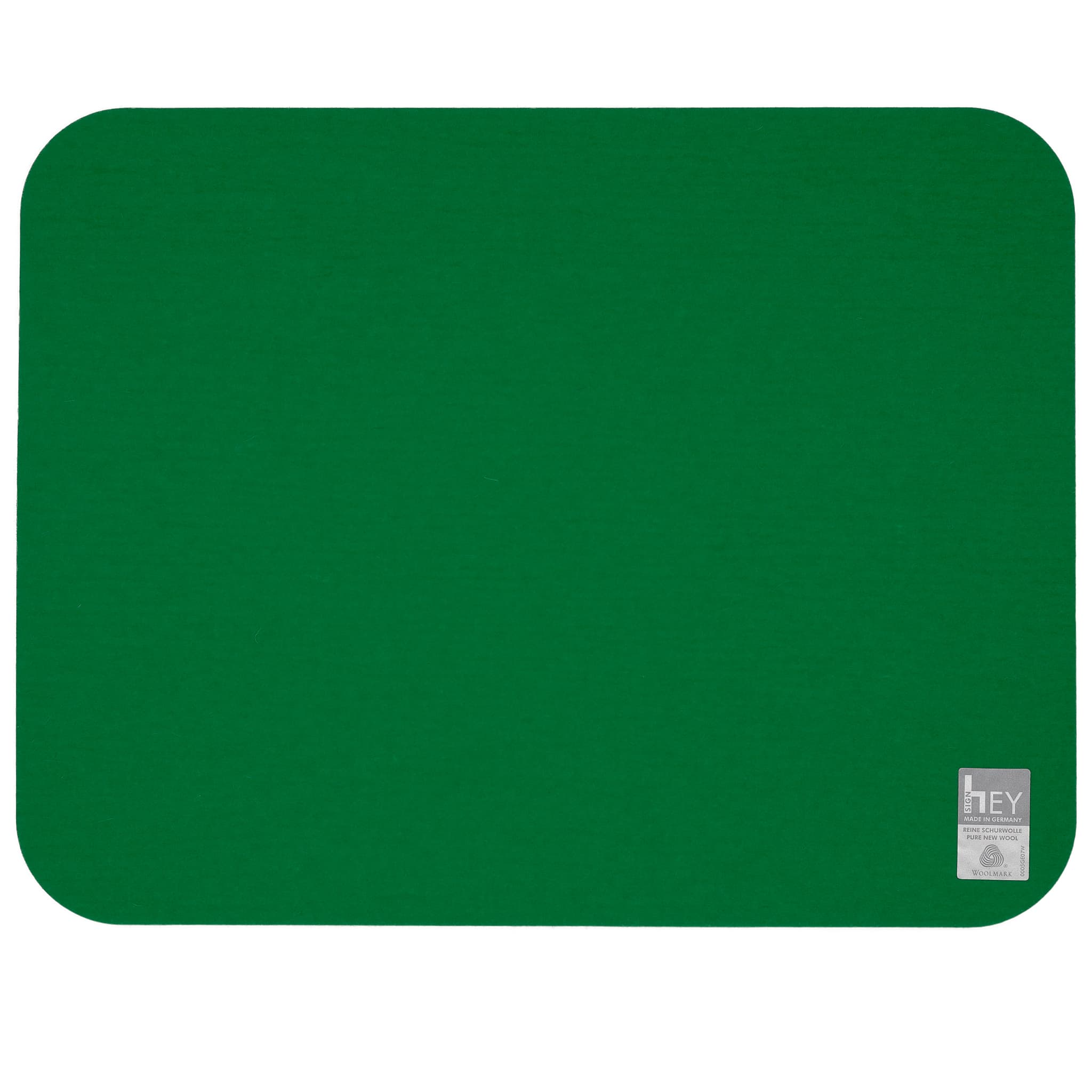 Rectangular Felt Placemat in Dark-Green by Hey-Sign 300134502 looking at Back
