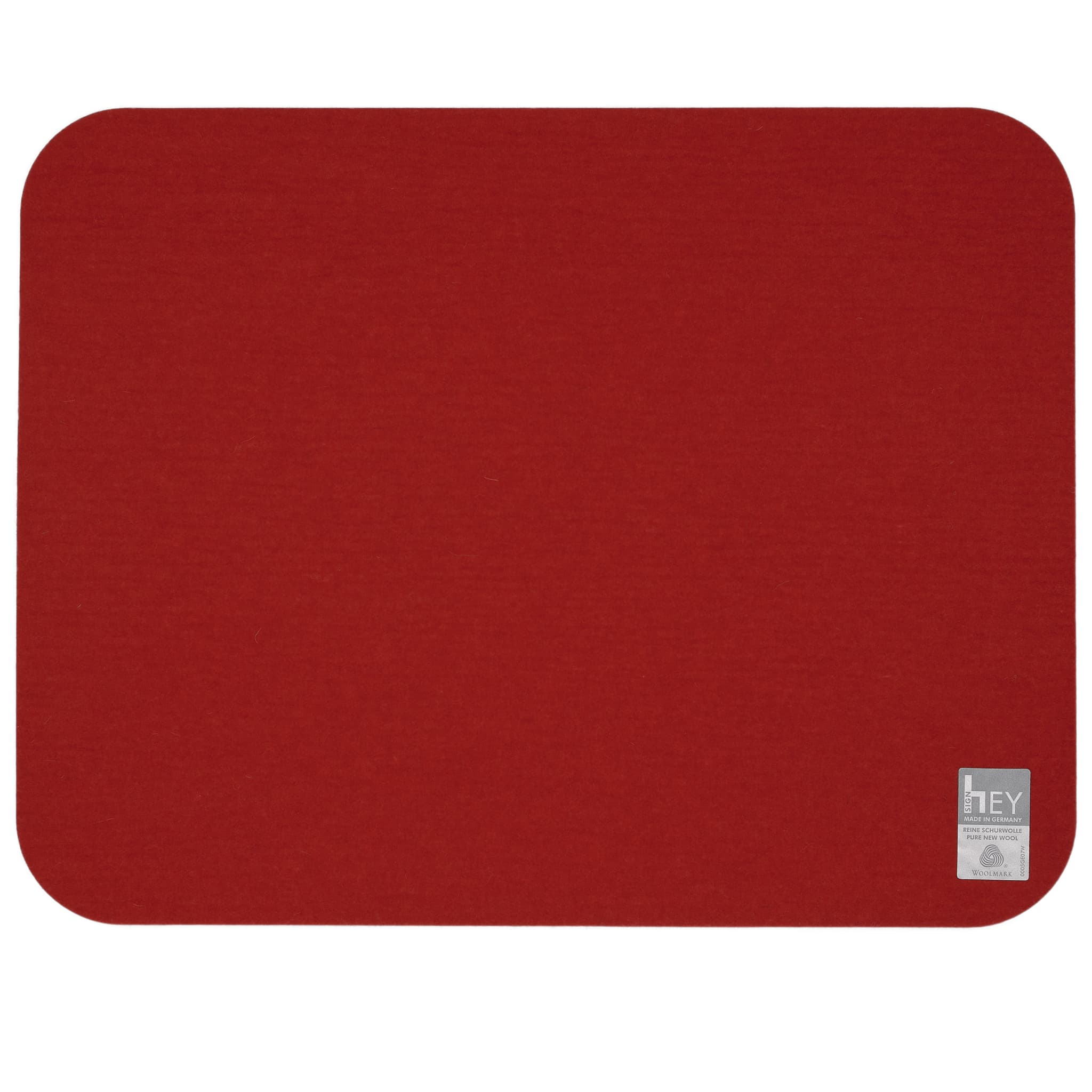 Rectangular Felt Placemat in Red by Hey-Sign 300134502 looking at Back