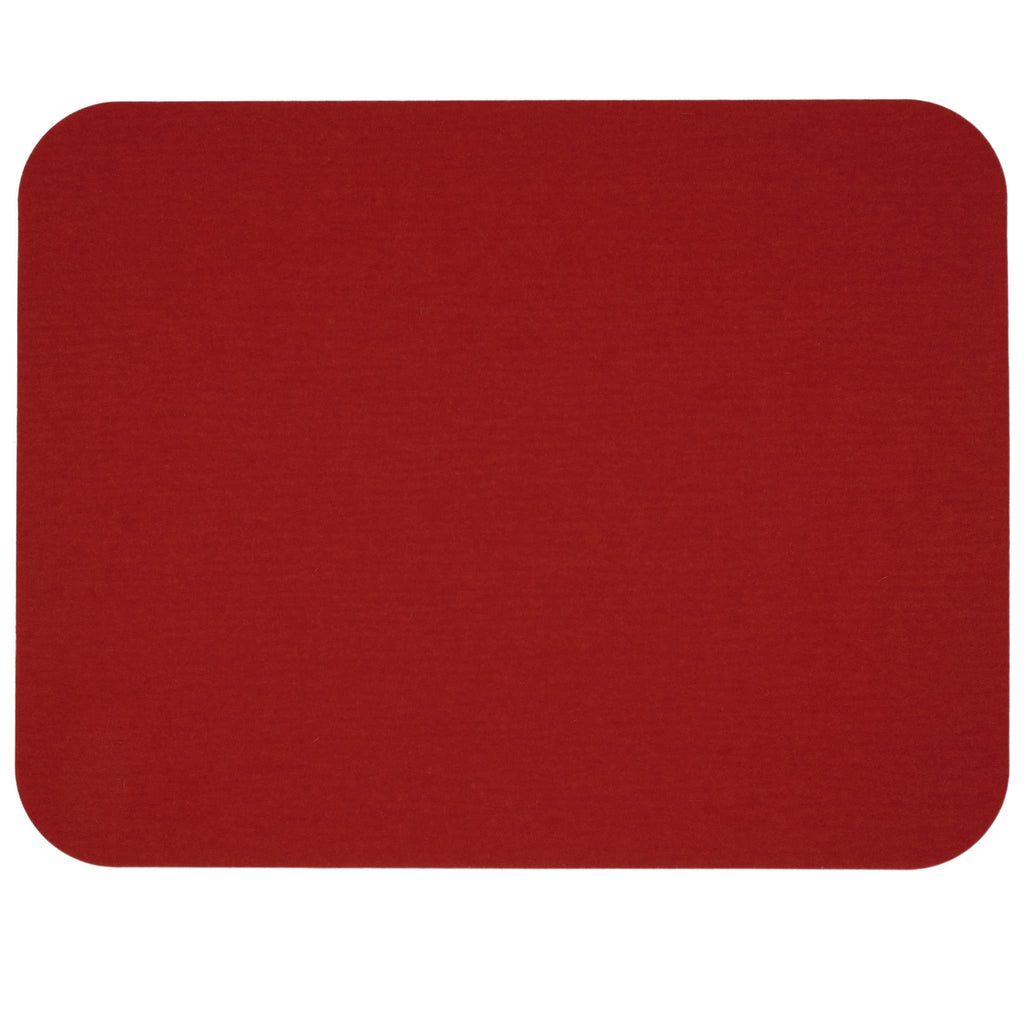 Rectangular Felt Placemat in Red by Hey-Sign 300134502 looking at Front-Wide
