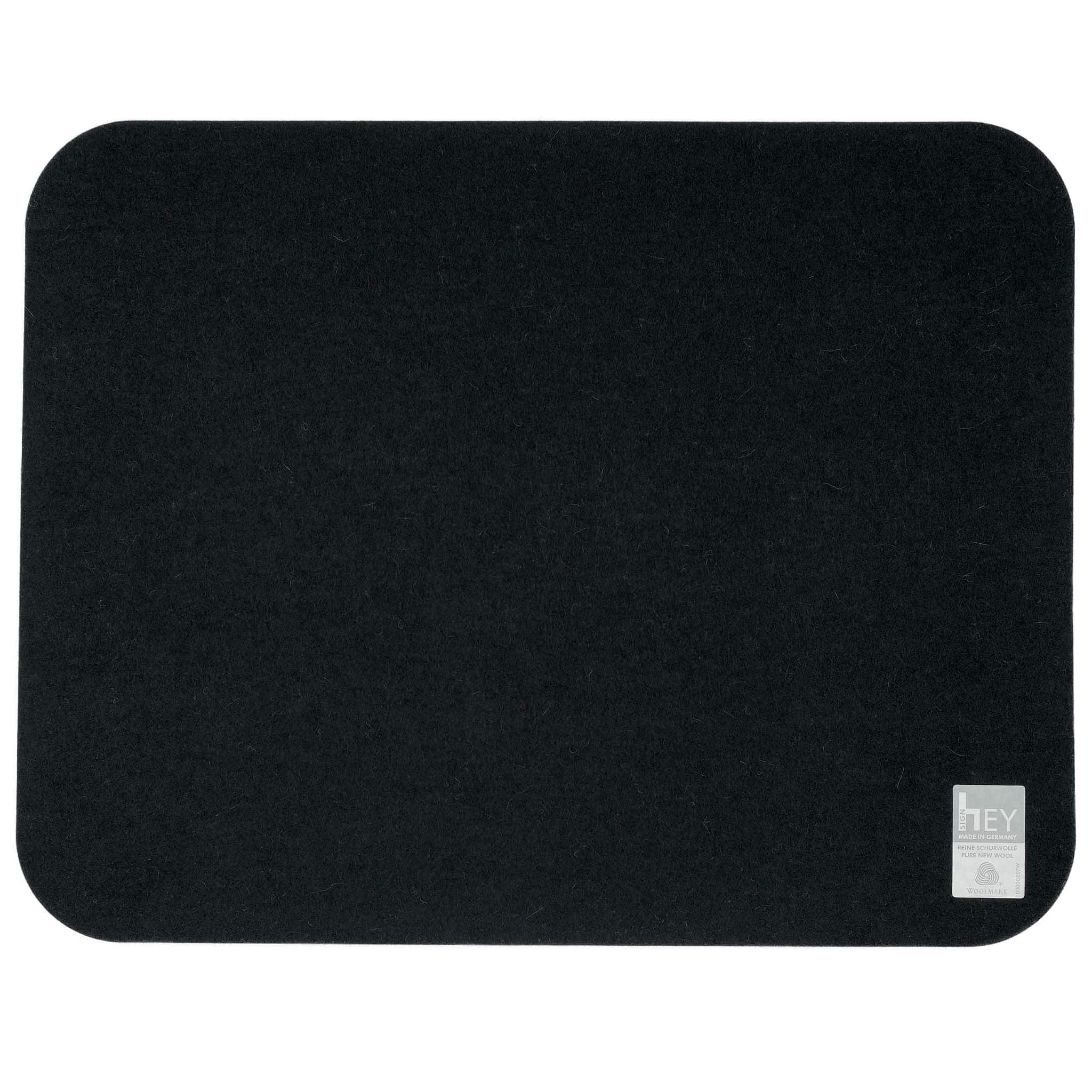 Rectangular Felt Placemat in Black by Hey-Sign 300134502 looking at Back