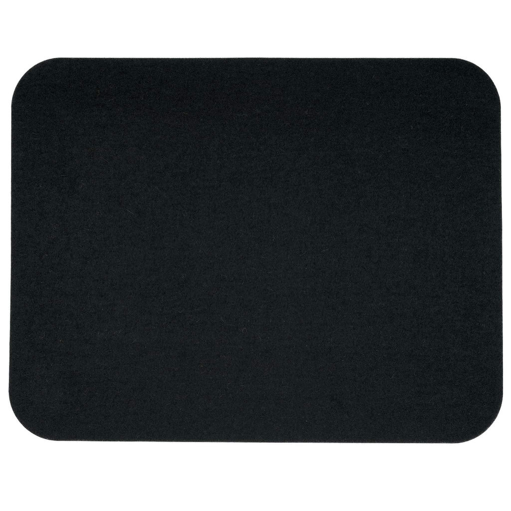 Rectangular Felt Placemat in Black by Hey-Sign 300134502 looking at Front-Wide