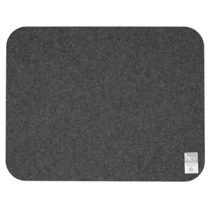 Rectangular Felt Placemat in Charcoal by Hey-Sign 300134501 looking at Back