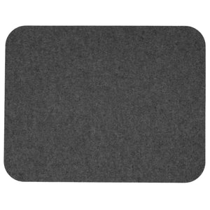 Rectangular Felt Placemat in Charcoal by Hey-Sign 300134501 looking at Front-Wide