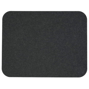 Rectangular Felt Placemat in Graphite by Hey-Sign 300134508 looking at Front-Wide