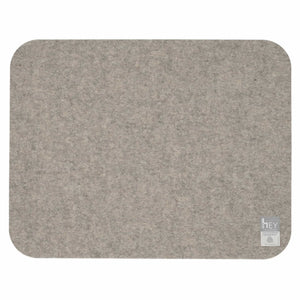 Rectangular Felt Placemat in Light-Grey by Hey-Sign 300134507 looking at Back
