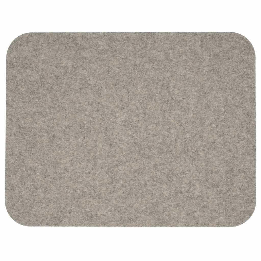 Rectangular Felt Placemat in Light-Grey by Hey-Sign 300134507 looking at Front-Wide