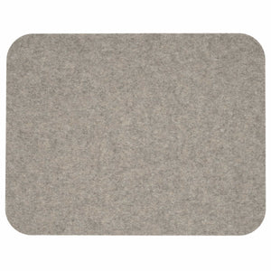 Rectangular Felt Placemat in Light-Grey by Hey-Sign 300134507 looking at Front