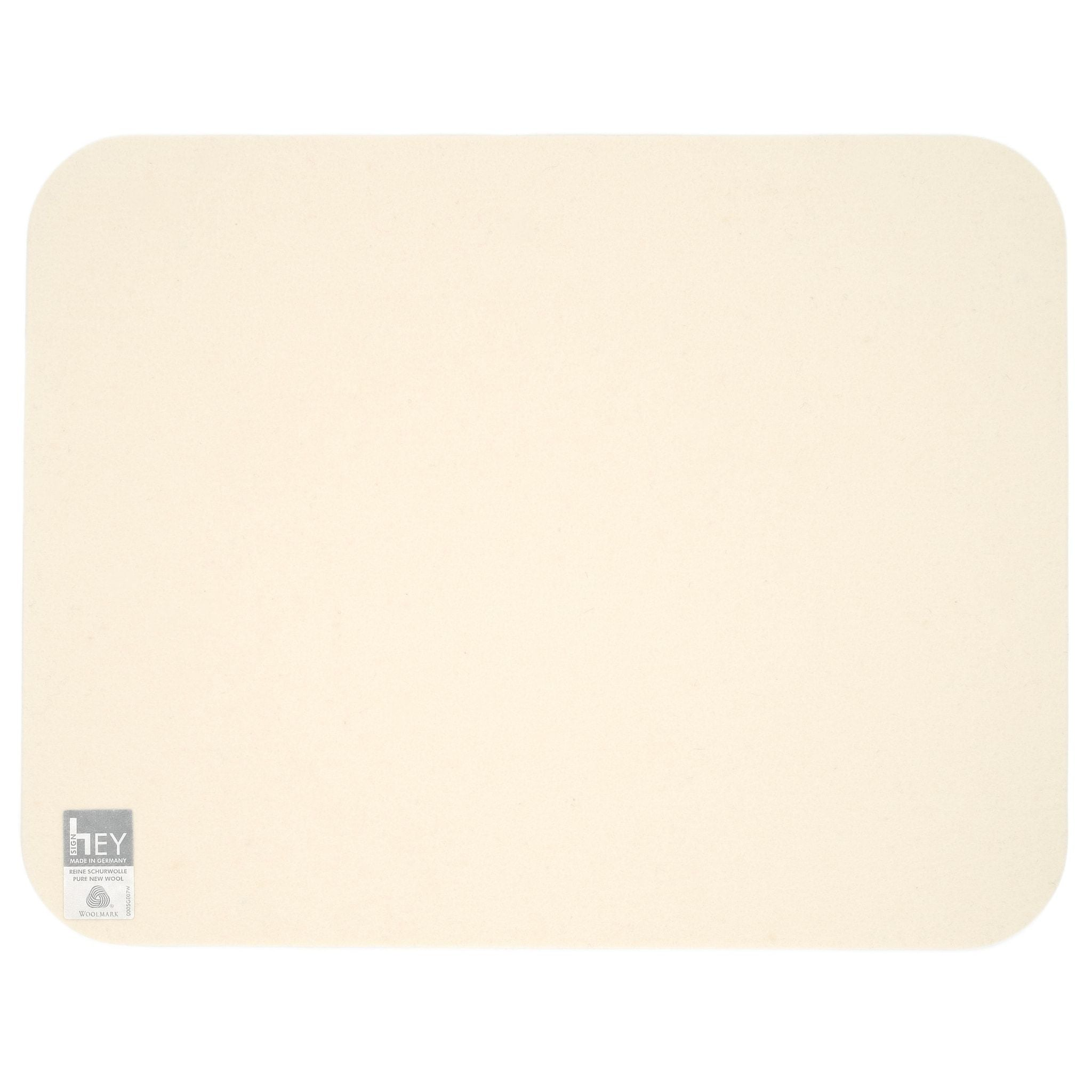 Rectangular Felt Placemat in White by Hey-Sign 300134503 looking at Back