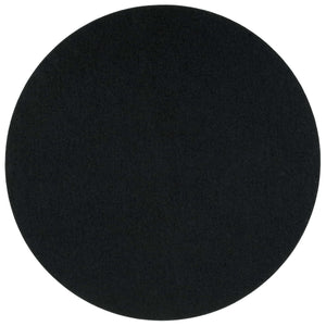 Round Felt Placemat in Black by Hey-Sign 300153502 looking at Front-Wide