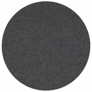 Round Felt Placemat in Charcoal by Hey-Sign 300153501 looking at Front-Wide