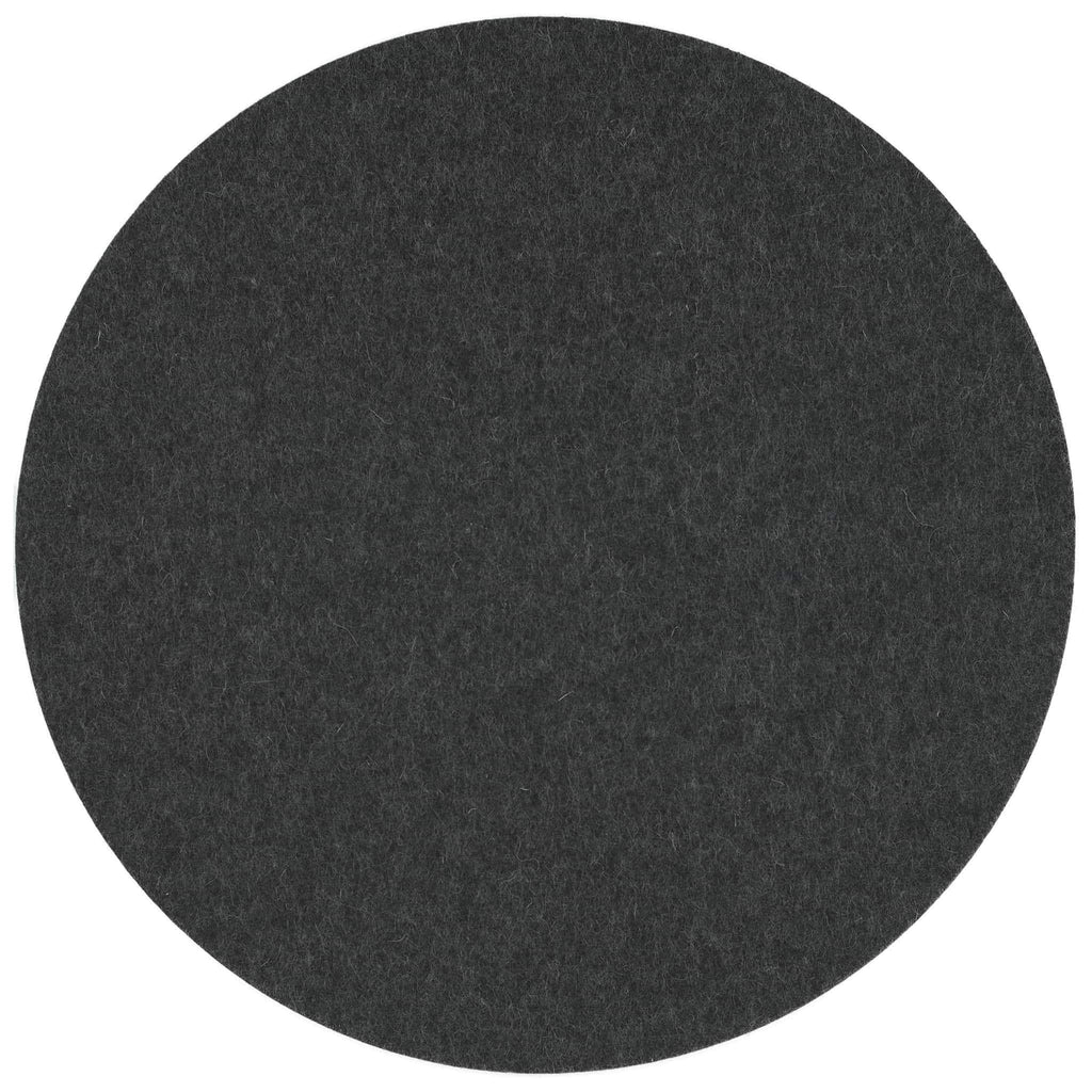Round Felt Placemat in Graphite by Hey-Sign 300153508 looking at Front-Wide