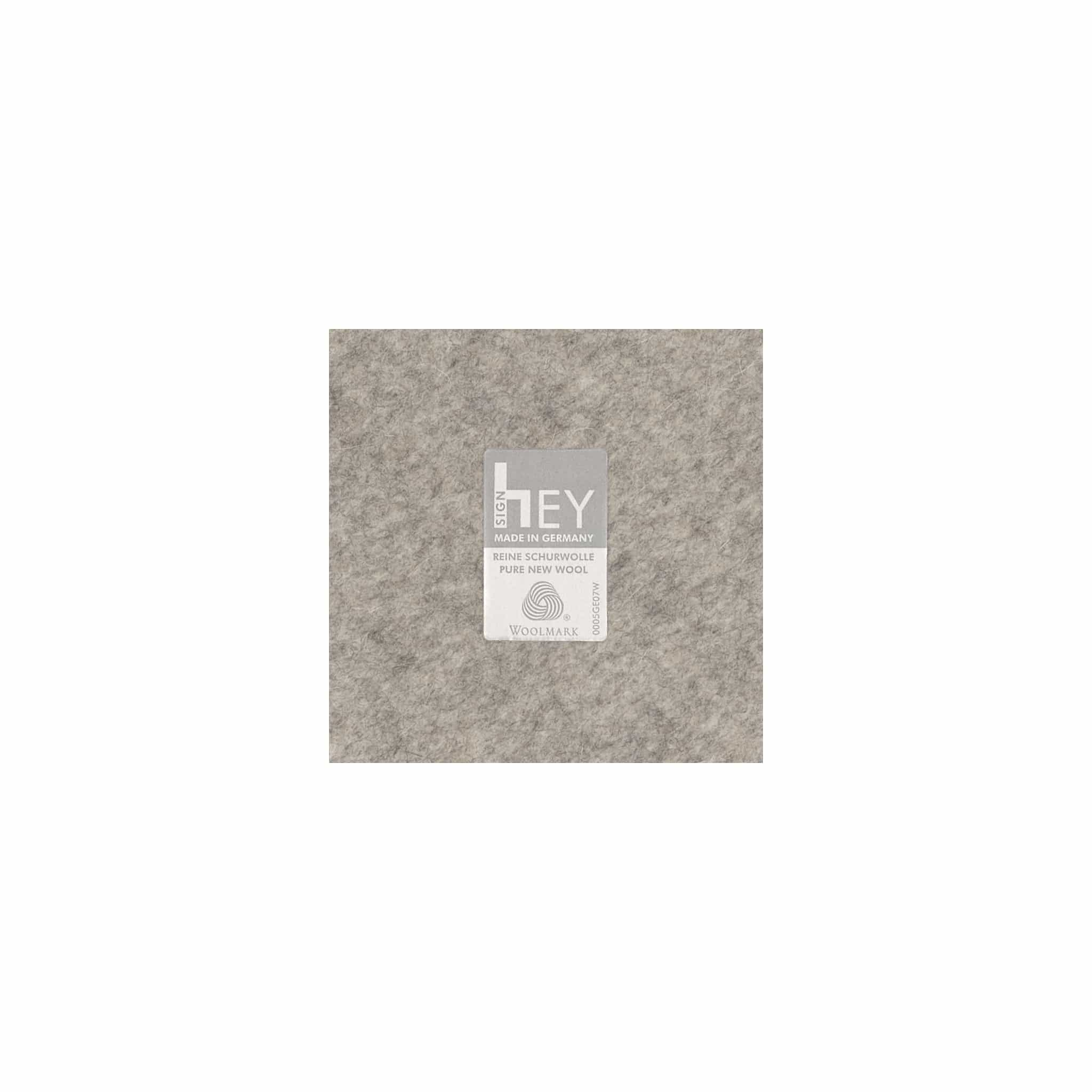 Rectangular Felt Placemat in Light-Grey by Hey-Sign 300134507 looking at Closeup-Label
