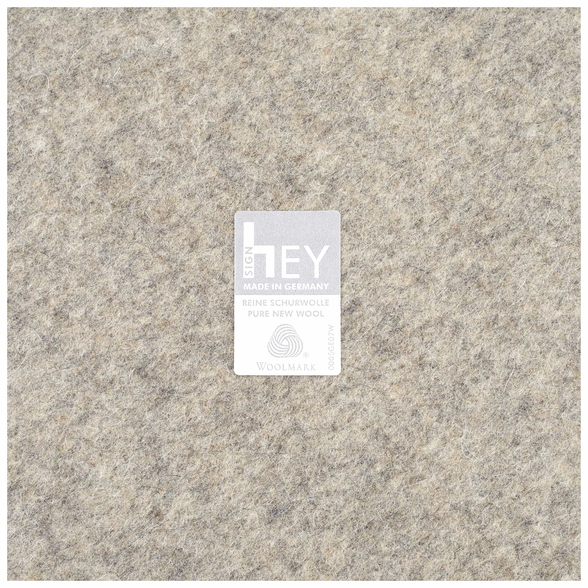 Round Felt Placemat 30cm in Light Grey by Hey-Sign 300153007 Label