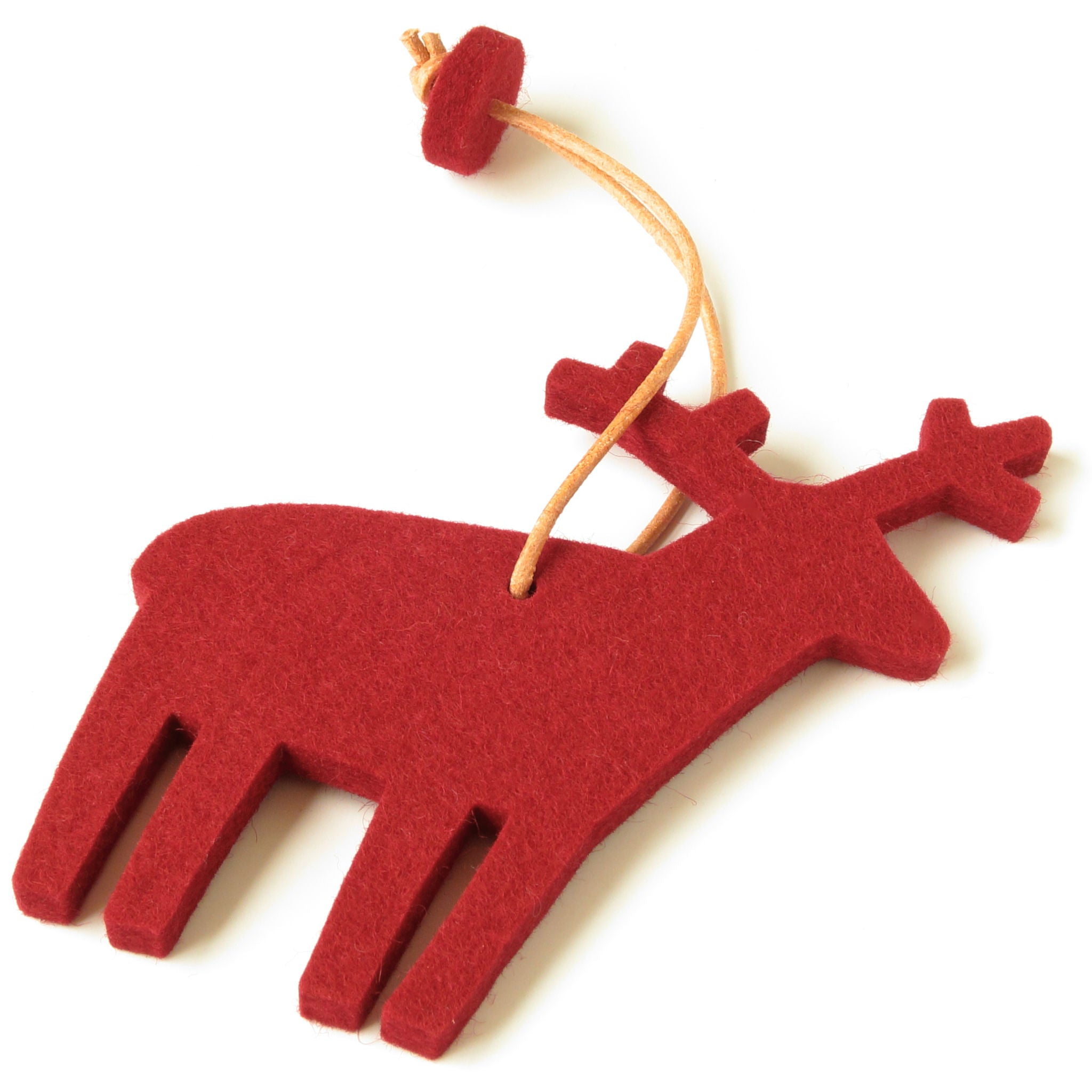 Decorative Reindeer in Red by Hey-Sign 300601011 from Side
