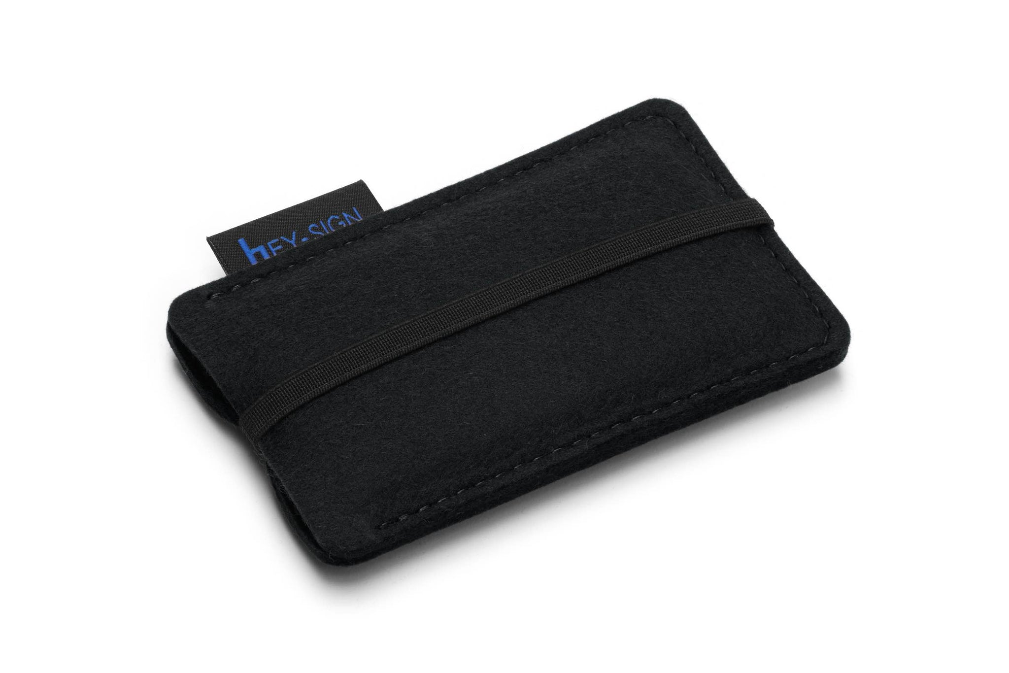 Felt Smartphone Sleeve or Pouch in Black by Hey-Sign 301031402