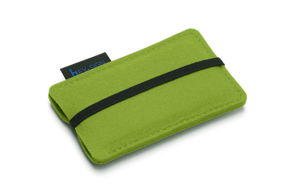 Felt Smartphone Sleeve or Pouch in May-Green by Hey-Sign 301031430