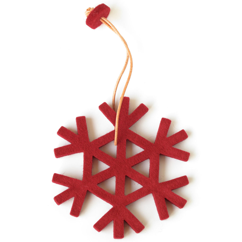 Decorative Snowflake in Red by Hey-Sign 300590911 from Top