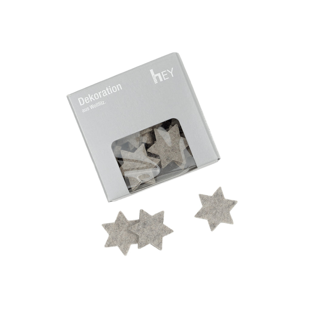 Star Felt Stars in Light-Grey by Hey-Sign 300550407 looking at Front-Wide
