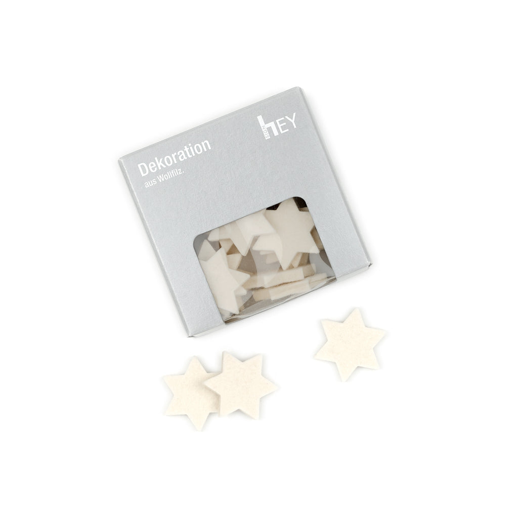 Felt Stars in White by Hey-Sign 300550403 looking at Front-Wide