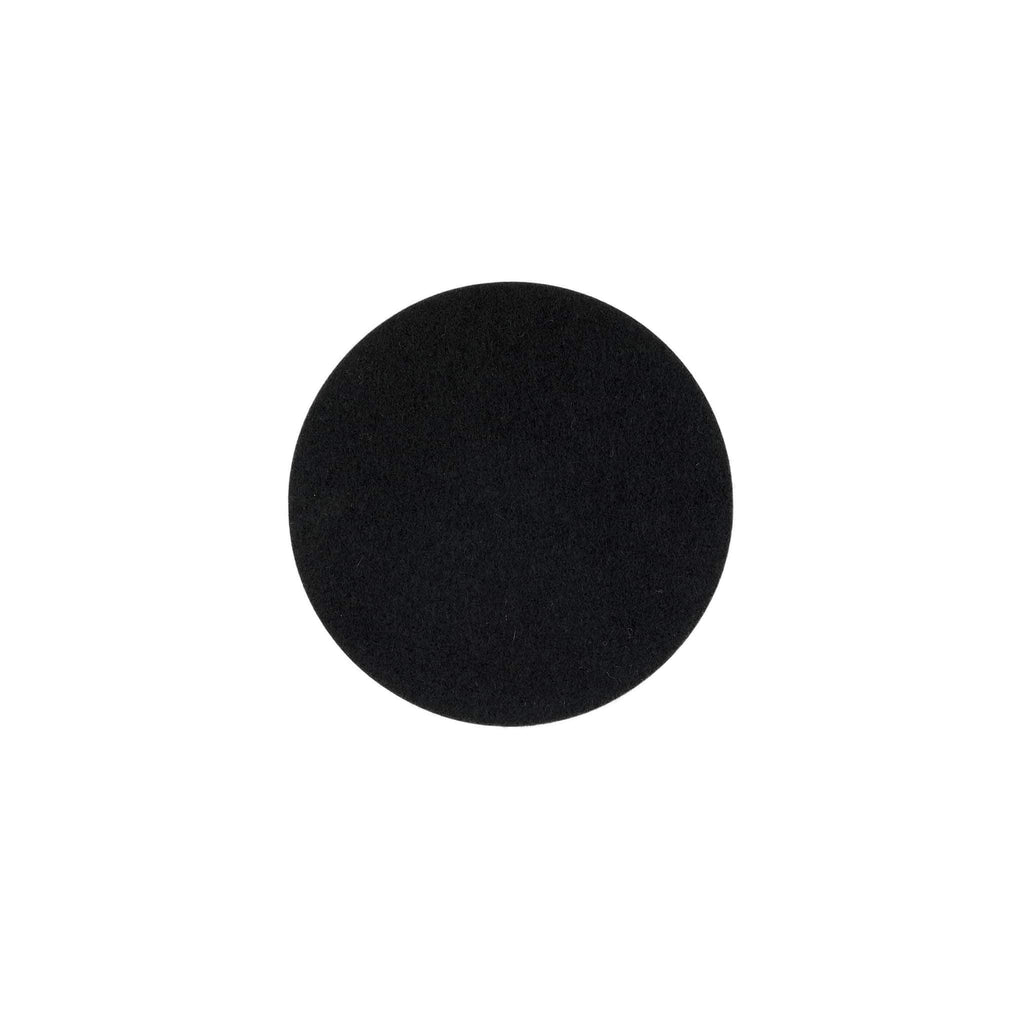 Round Felt Trivet in Black by Hey-Sign 300152002 looking at Front-Wide