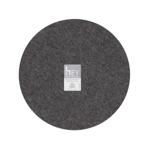 Round Felt Trivet in Charcoal by Hey-Sign 300152001 looking at Back