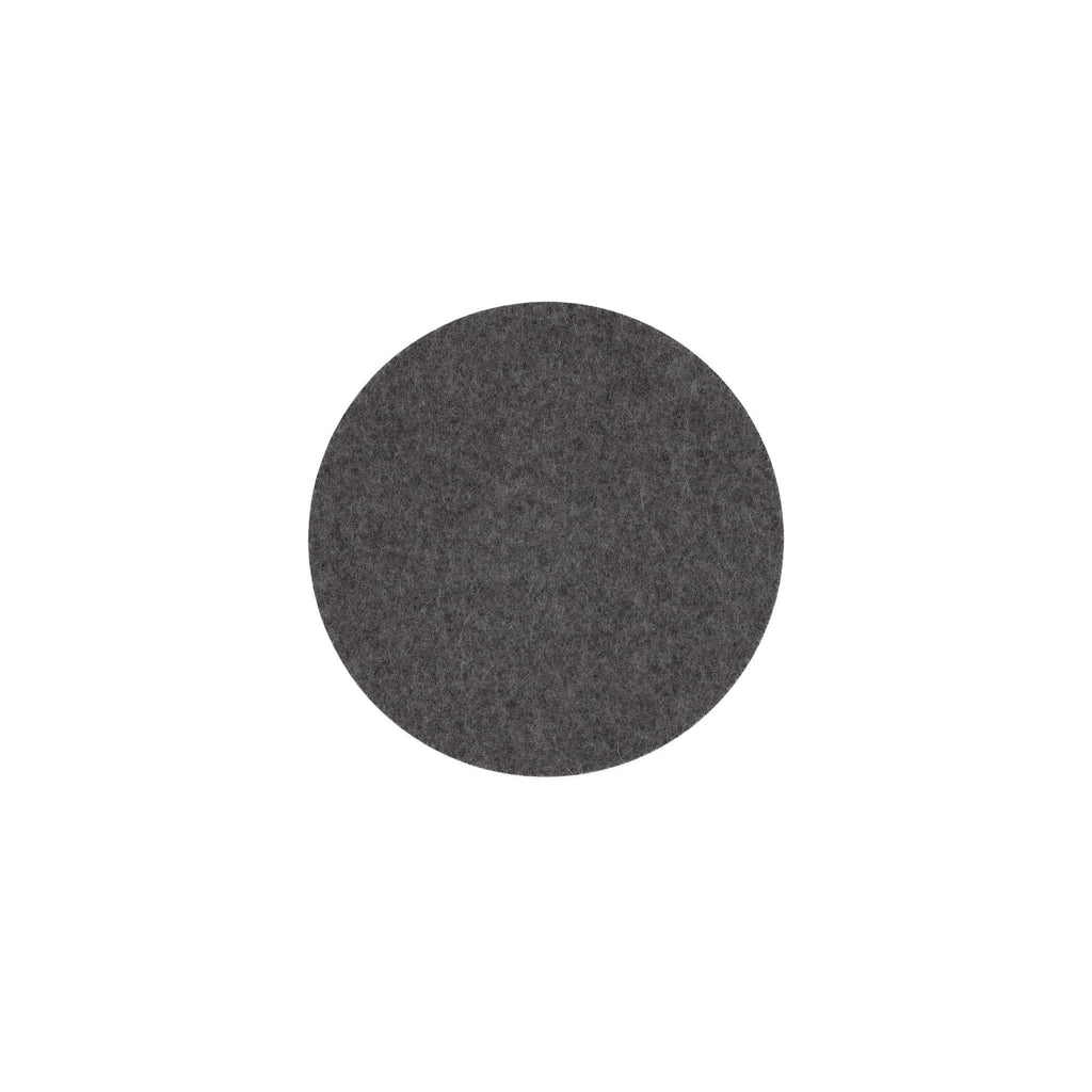 Round Felt Trivet in Charcoal by Hey-Sign 300152001 looking at Front-Wide