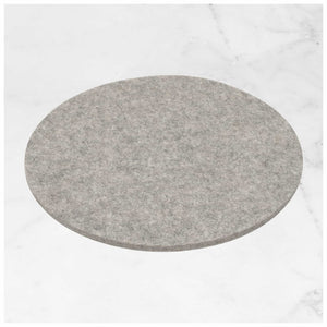 Round Felt Trivet 20cm in Light-Grey by Hey-Sign 300152007 on Marble