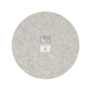 Round Felt Trivet in Marble by Hey-Sign 300152006 looking at Back