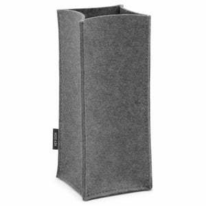 Felt Bottle Cooler in Charcoal by Hey-Sign 320142501 looking at Front-Angle