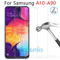 2PCS glass for samsung a10 a20 a20e a30 a40 a40s a50 a60 a70 a80 a90 tempered glass screen protectorlight phone film accessories
