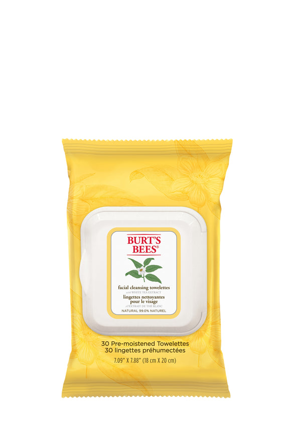 Burt's Bees White Tea Facial Cleansing Towelettes (30)