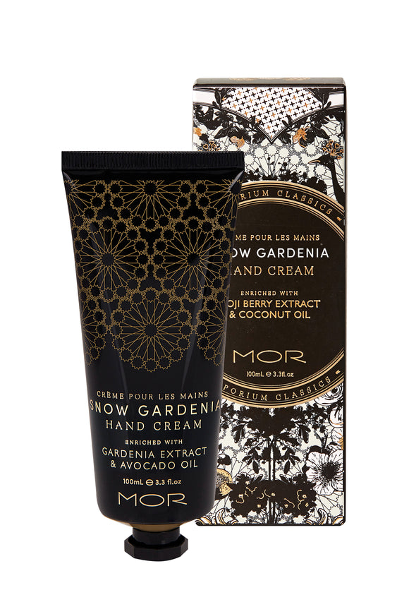 MOR Emporium Classics Snow Gardenia Hand Cream 100ml - NEW