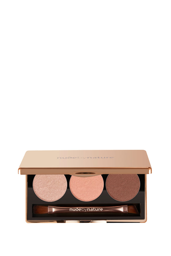 Nude by Nature 100% Natural Eyeshadow Trio - Rose