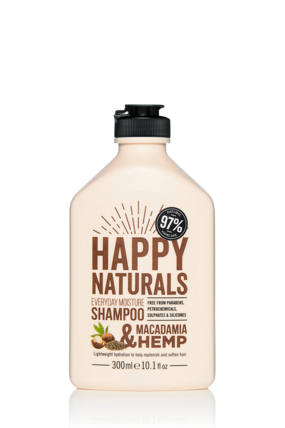 Happy Naturals Everyday Moisture Macadamia & Hemp Shampoo 300ml