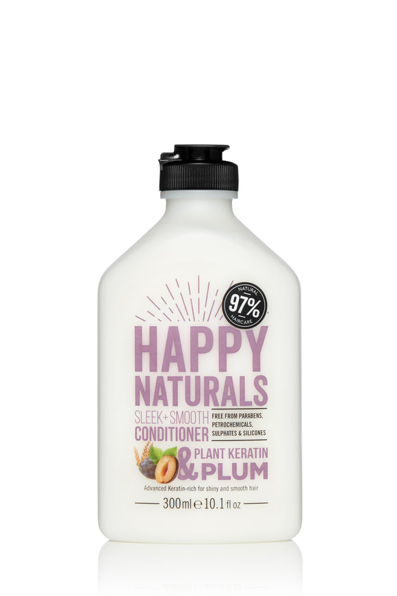 Happy Naturals Sleek + Smooth Keratin & Plum Conditioner 300ml