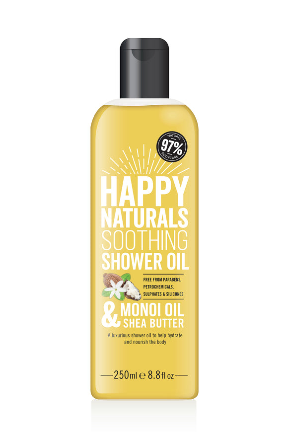 Happy Naturals Monoi Oil & Shea Butter Soothing Shower Oil 250ml
