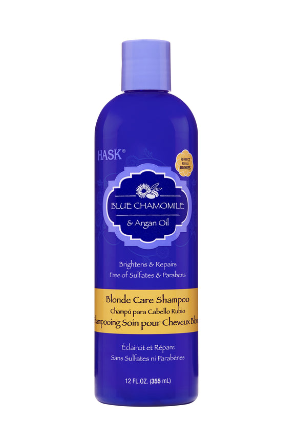 Hask Blue Chamomile & Argan Oil Blonde Care Shampoo 355ml