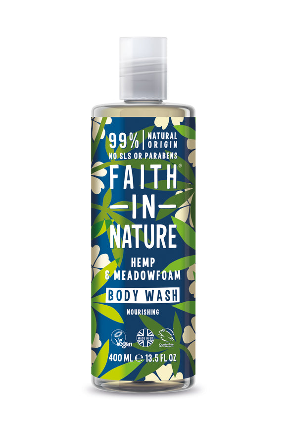 Faith in Nature Hemp & Meadowfoam Body Wash 400ml