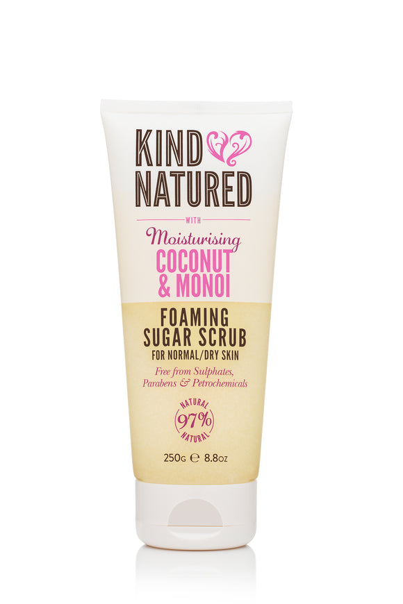 Kind Natured Moisturising Coconut & Monoi Foaming Sugar Scrub 250ml