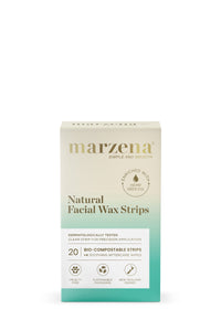 Marzena Natural Facial Wax Strips with Hemp Oil (20 strips)